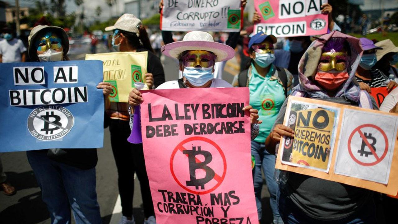 El Salvador's Bitcoin Rollout Met With Protests